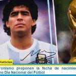 Desde el Peronismo proponen la fecha de nacimiento de Diego Maradona como Día Nacional del Fútbol