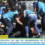 Cafiero: «fue doloroso ver que los simpatizantes de Maradona que venían pacíficamente a despedirlo terminaron siendo reprimidos»