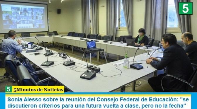 """Sonia Alesso sobre la reunión del Consejo Federal de Educación: """"se discutieron criterios para una futura vuelta a clase, pero no la fecha"""""""