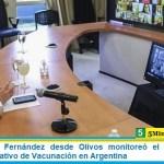 El Presidente Fernández desde Olivos monitoreó el comienzo del histórico Operativo de Vacunación en Argentina