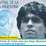 Iniciativa del Frente de Todos para que Diego Maradona aparezca en billetes y sellos postales de Argentina