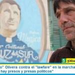 """El padre """"Paco"""" Olivera contra el """"lawfare"""" en la marcha a Tribunales: """"En Argentina hay presos y presas políticos"""""""