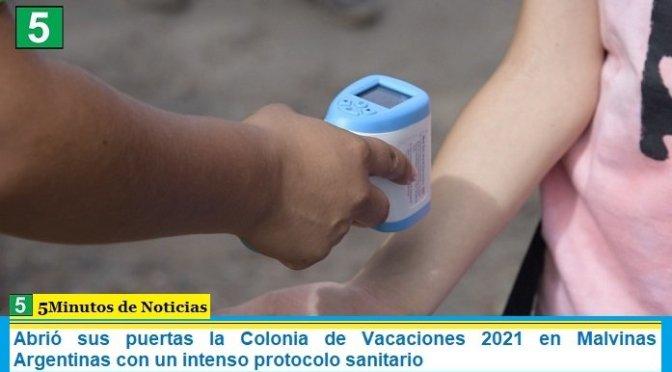 Abrió sus puertas la Colonia de Vacaciones 2021 en Malvinas Argentinas con un intenso protocolo sanitario