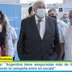 """Ministro Ginés: """"Argentina tiene aseguradas más de 51 millones de dosis para cuando la campaña entre en escala"""""""