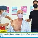 El ministro Gollan es el primer mayor de 60 años en aplicarse la vacuna contra el Covid-19