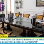 """Kicillof: """"Me comuniqué por videoconferencia con Milagro. Hablamos del lawfare. ¡No más presos políticos en Argentina!"""""""