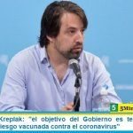 Viceministro Kreplak: «el objetivo del Gobierno es tener a toda la población de riesgo vacunada contra el coronavirus»