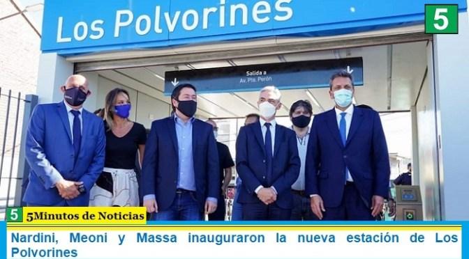 Nardini, Meoni y Massa inauguraron la nueva estación de Los Polvorines
