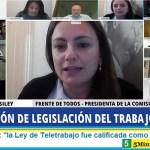 """Vanesa Siley: """"la Ley de Teletrabajo fue calificada como modelo en el mundo"""""""