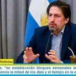 """Ministro Trotta: """"se establecerán bloques semanales de grupos para garantizar al menos la mitad de los días y el tiempo en la escuela"""""""