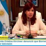 """La vicepresidenta Cristina Kirchner denunció que Stornelli """"amenazó al Presidente"""" por televisión"""