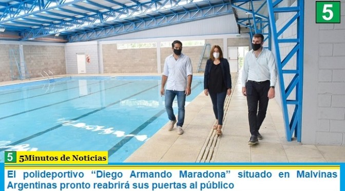 """El polideportivo """"Diego Armando Maradona"""" situado en Malvinas Argentinas pronto reabrirá sus puertas al público"""
