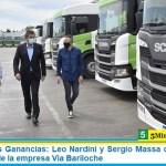 Impuesto a las Ganancias: Leo Nardini y Sergio Massa dialogaron con trabajadores de la empresa Vía Bariloche