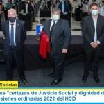 """Mario Ishii y sus """"certezas de Justicia Social y dignidad de familia"""" en la apertura de sesiones ordinarias 2021 del HCD"""