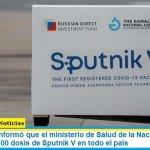 Carla Vizzotti informó que el ministerio de Salud de la Nación comenzó a distribuir 399.000 dosis de Sputnik V en todo el país
