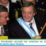El Presidente Fernández recordó los comicios en los que Néstor Kirchner resultó electo hace 18 años