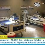 Este martes sumaron 59.792 las víctimas fatales y 2.743.620 los infectados por coronavirus en Argentina. Reporte del ministerio de Salud