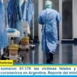 Este viernes sumaron 61.176 las víctimas fatales y 2.824.562 los infectados por coronavirus en Argentina. Reporte del ministerio de Salud