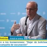 """Ministro Gollan a los bonaerenses: """"Dejar de bolichear mientras se avanza con la campaña de vacunación"""""""