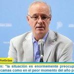 """Ministro Gollan: """"la situación es enormemente preocupante, estamos en un nivel de camas como en el peor momento del año pasado"""""""