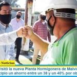 """Leo Nardini visitó la nueva Planta Hormigonera de Malvinas: """"implica para el Municipio un ahorro entre un 38 y un 40% por obra"""""""