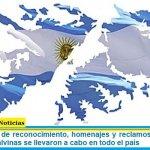 Las muestras de reconocimiento, homenajes y reclamos de soberanía de las Islas Malvinas se llevaron a cabo en todo el país
