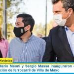 Leo Nardini, Mario Meoni y Sergio Massa inauguraron oficialmente la renovada estación de ferrocarril de Villa de Mayo