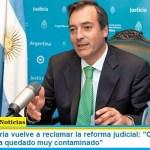 """El ministro Soria vuelve a reclamar la reforma judicial: """"Casación es un tribunal que ha quedado muy contaminado"""""""