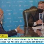 """El ministro Soria recibió a autoridades de la Asociación de Fiscales: Coincidieron en que """"Se necesita un Procurador definitivo"""""""