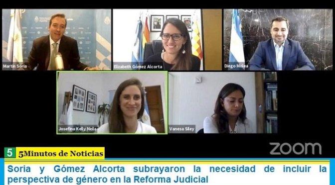 Soria y Gómez Alcorta subrayaron la necesidad de incluir la perspectiva de género en la Reforma Judicial
