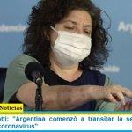 "Ministra Vizzotti: ""Argentina comenzó a transitar la segunda ola de contagios de coronavirus"""