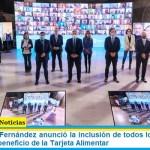 El Presidente Fernández anunció la inclusión de todos los menores de 14 años en el beneficio de la Tarjeta Alimentar