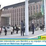 """El dinamismo del intendente Leo Nardini y su equipo originó un """"Día de la Bandera especial en Malvinas Argentinas"""""""