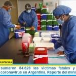Este viernes sumaron 84.628 las víctimas fatales y 4.093.090 los infectados por coronavirus en Argentina. Reporte del ministerio de Salud