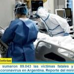 Este domingo sumaron 89.043 las víctimas fatales y 4.268.789 los infectados por coronavirus en Argentina. Reporte del ministerio de Salud