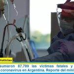 Este jueves sumaron 87.789 las víctimas fatales y 4.222.400 los infectados por coronavirus en Argentina. Reporte del ministerio de Salud