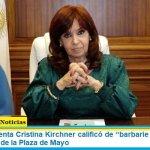 """La Vicepresidenta Cristina Kirchner calificó de """"barbarie antiperonista"""" al bombardeo de la Plaza de Mayo"""