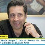 Víctor Santa María aseguró que el Frente de Todos tiene una oportunidad en la Ciudad de Buenos Aires