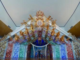Maori Theaterbühne im Museum