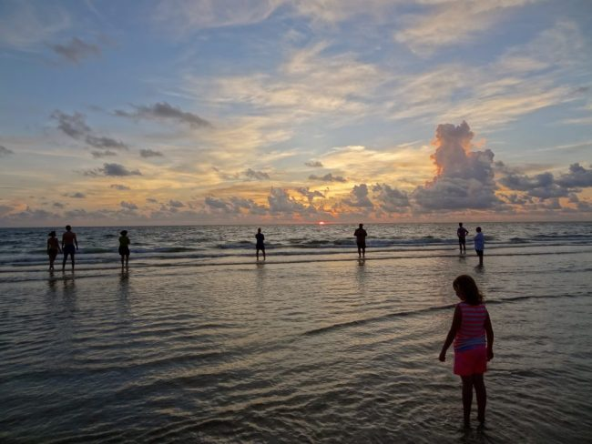 Green Bay visits Naples (summer 2014) - STM members enjoy a gorgeous sunset in Naples