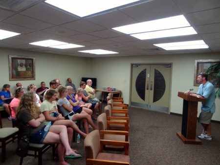 Green Bay visits Naples (summer 2014) - hearing testimonies of men in the (faith based) Justin's Place addiction recovery program of St. Matthew's House
