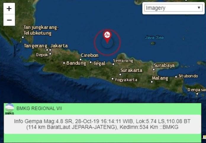 Gempa di Jepara Jawa Tengah