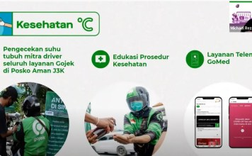 Driver-Gojek-di-Semarang-Wajib-Cek-Suhu-Badan-Masker-hingga-Handsanitizer