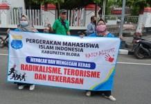 PMII Blora Turun ke Jalan, Kecam Aksi Teroris di Sigi