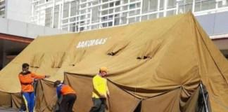 Tenda darurat di pelataran IGD RSUD Soewondo Pati