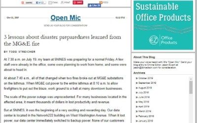 5NINES disaster preparedness story is featured in In Business magazine