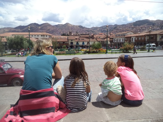 Pretty views from the Plaza de las Armas in Cusco, Peru
