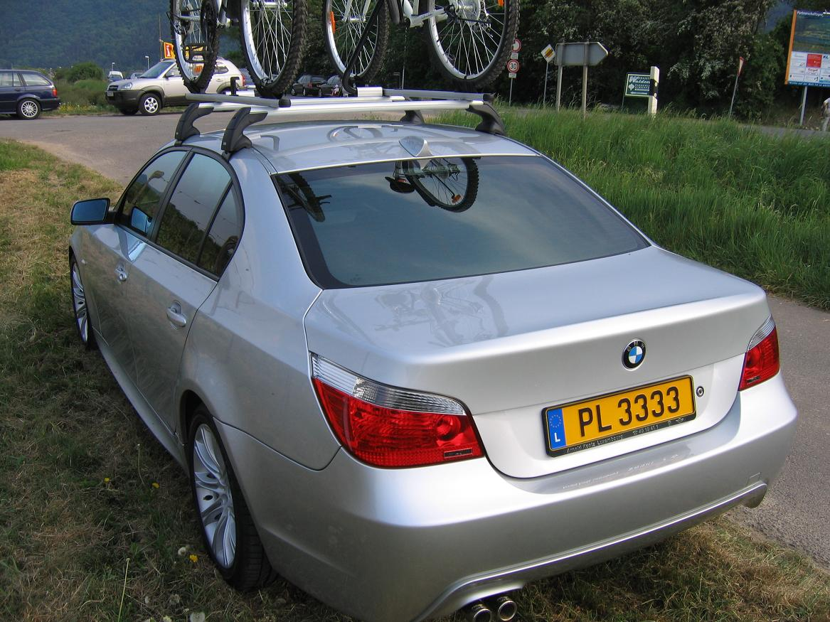 factory roof rack on my e60 installed