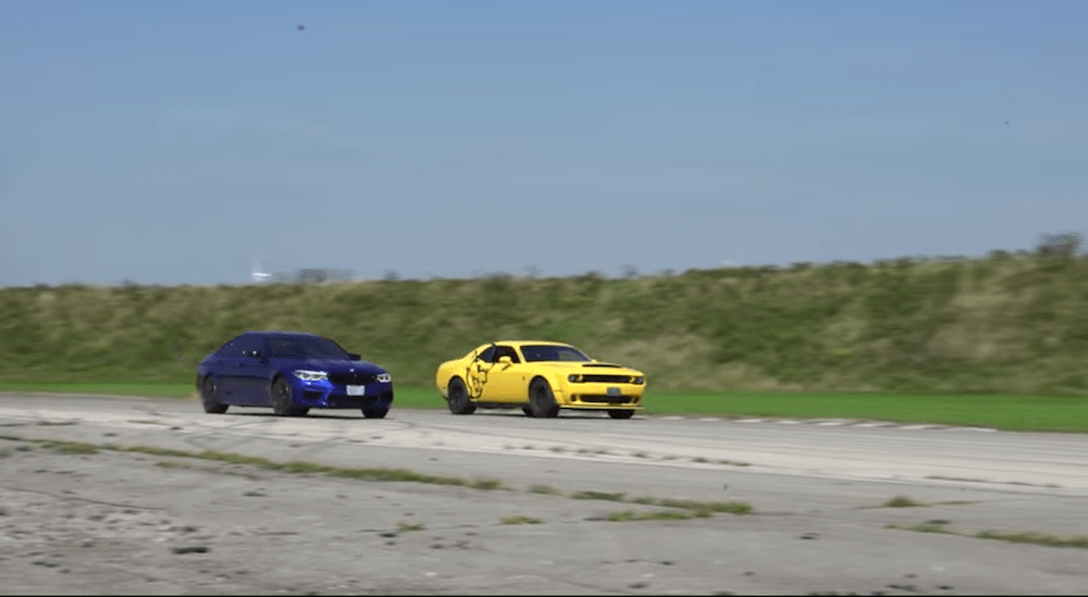Dodge Demon versus BMW M5 Competition.