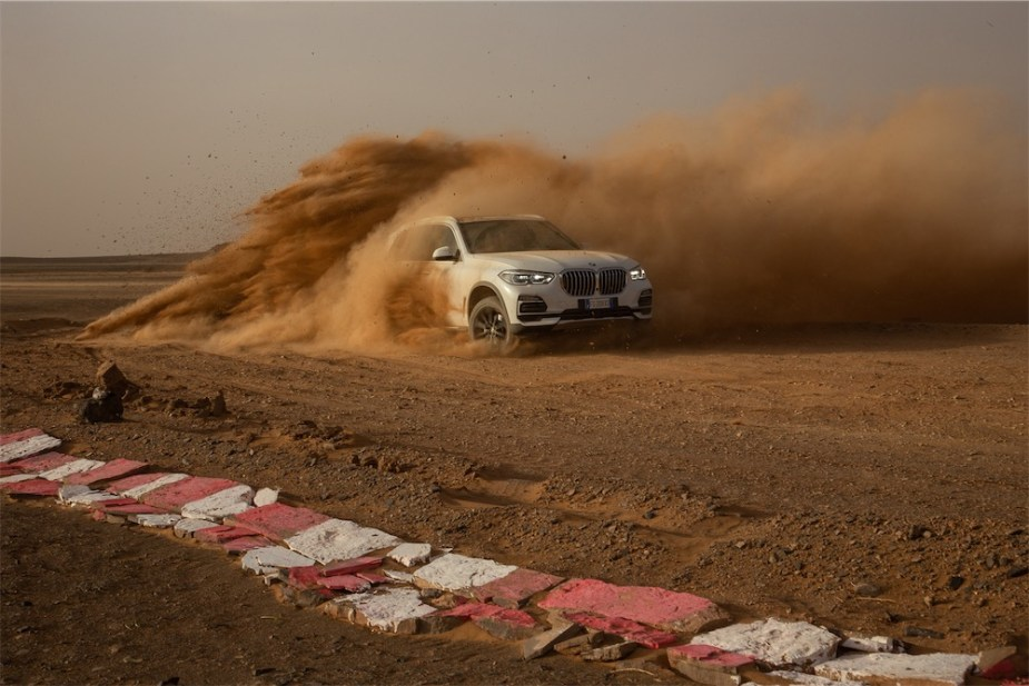 BMW X5 on a Full-size Recreation of Monza in the Desert.